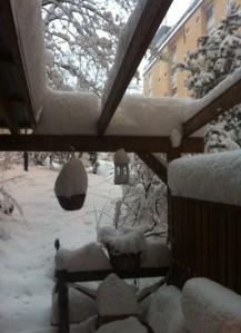 Det ser bedrägligt lugnt ut på bilden trots snömassorna.