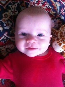 Lilla going! På min matta.