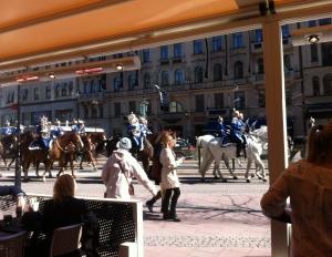 Fina hästar och stiliga ryttare.