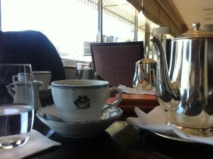 Blev bjuden på kaffet av den trevlige kyparen. Bara en sådan sak!