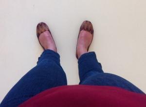 Urgamla skor som skulle kunna vara Missoni men tyvärr inte är det.