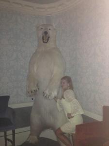 Min engelska kollega och en isbjörn.