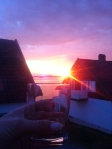 En whisky i solnedgången på landet - ej dumt.