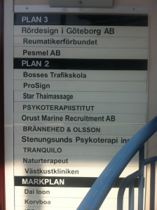 Mindre glatt gäng företag i samma hus som min trafikskola i Stenungsund.