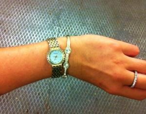 Och armbandet blev väldigt snyggt till klockan som tur var.