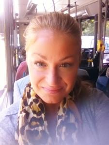Snäll och rar på bussen i morse.