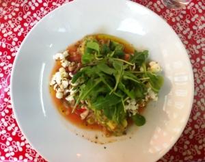 Ceviche på torsk med POPCORN? Jättekonstigt men jättegott.