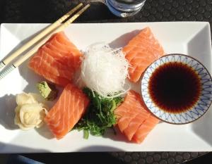 Sashimi på East. jag orkade typ halva, så sjukt mycket firre.
