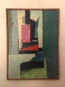Jag gillar den. Och det här får man säkert inte säga om konst, men färgerna passar bra i vardagsrummet.