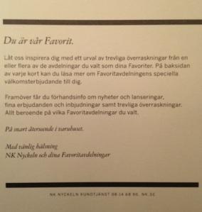 """""""Du är vår favorit""""."""