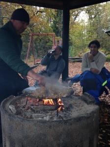 Gräddstuvad pyttipanna över öppen eld. Just då det godaste jag ätit i hela mitt liv.