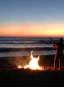 Kväll med bonfire. Herregud.