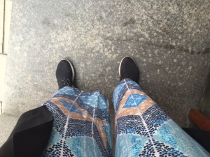 Gamla skor men nya byxor! Även dessa från Rodebjer, men det här paret är i siden och hur sköna som helst.