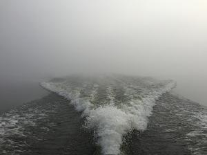 Man såg alltså bara drygt tio meter från båten, ganska läskigt.